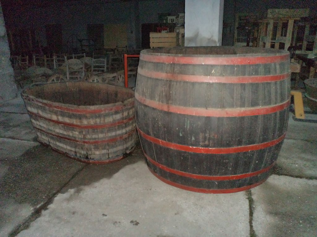 Old extra big winery tubs hot tub