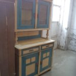 Originally painted old pine kitchen cabinet