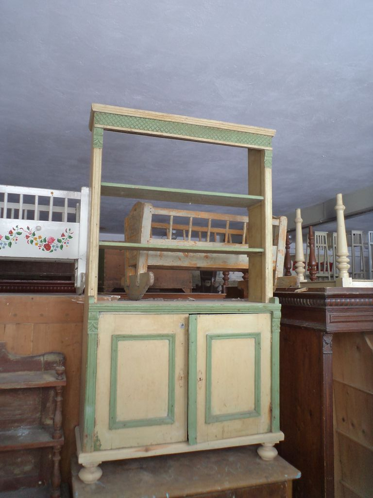 Originally painted old pine kitchen furniture