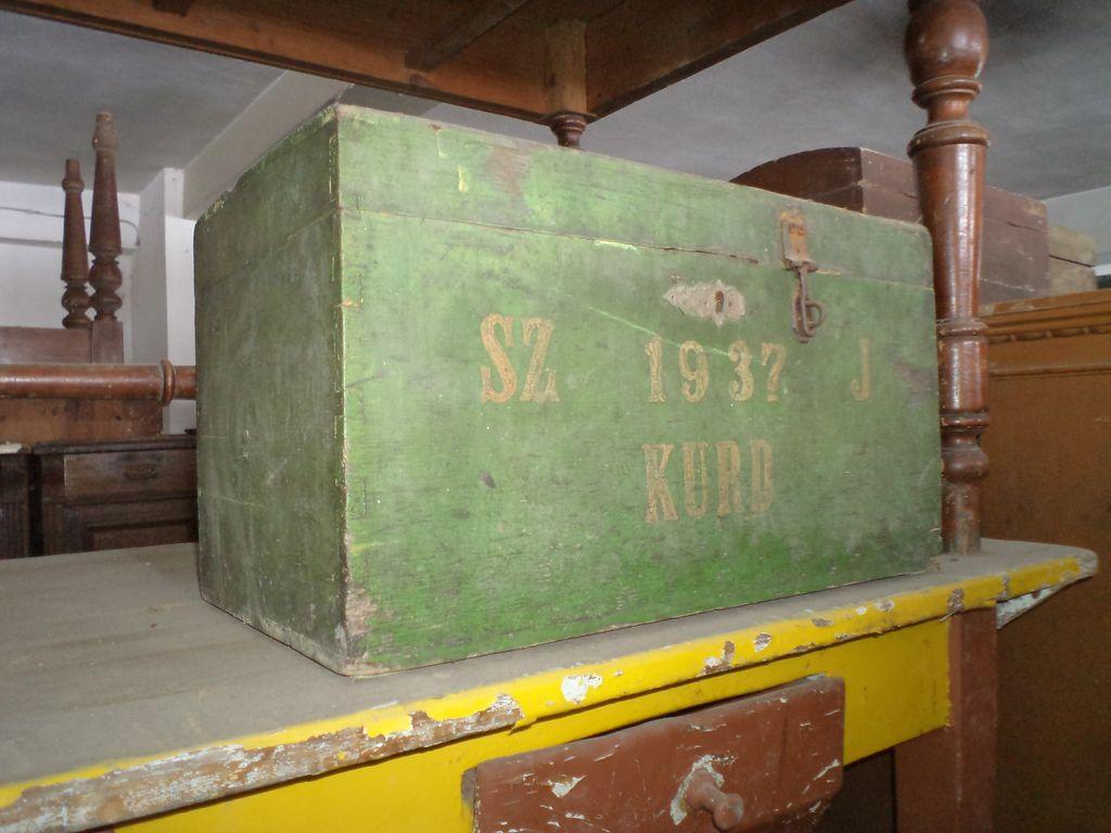 Old wood war box military