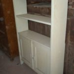 Antique pine shelf with doors