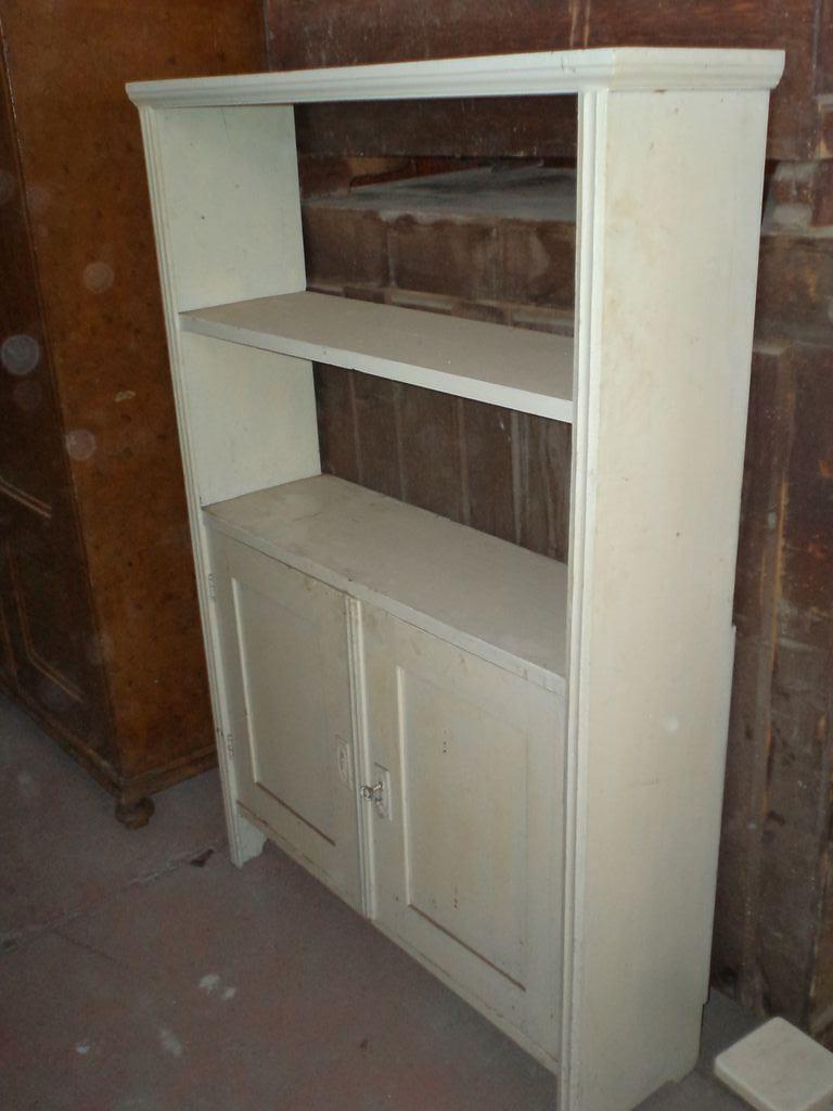 Antique pine shelf with doors