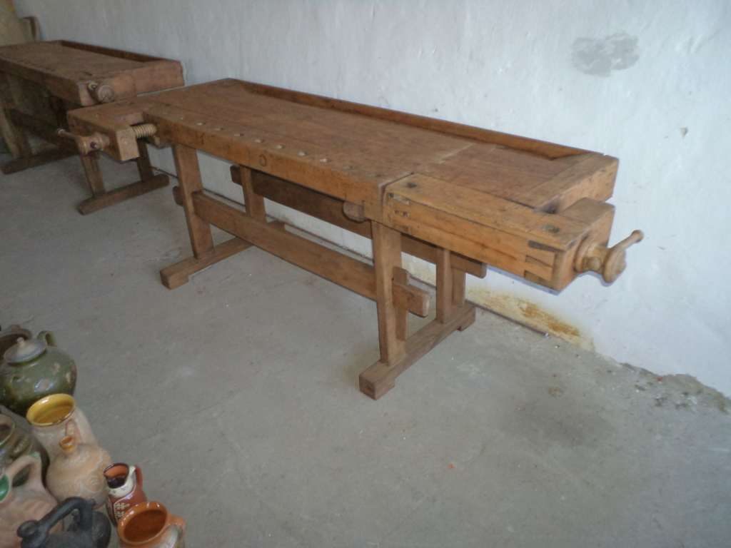 antique workbench