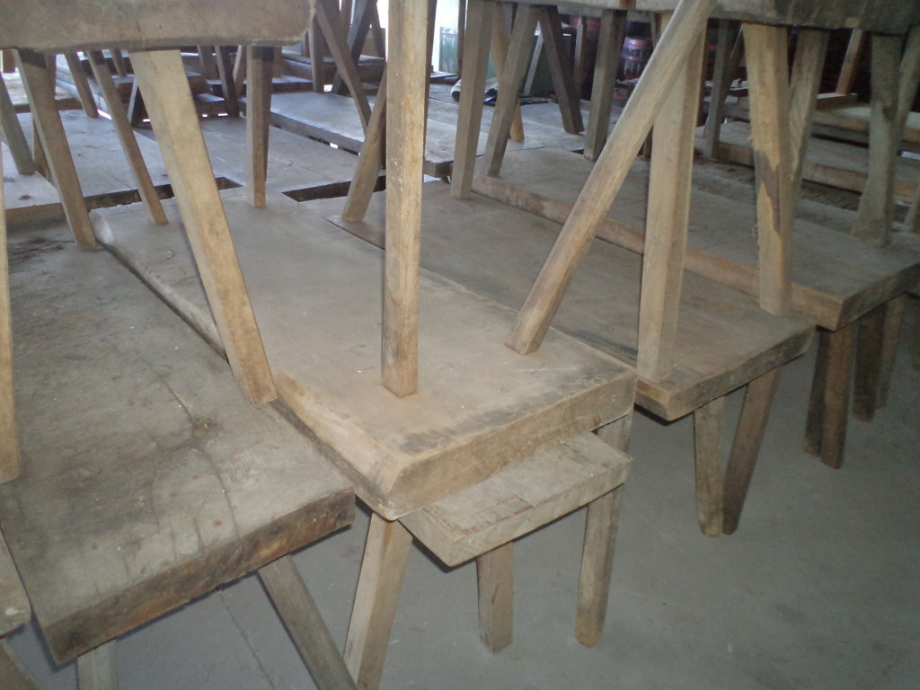 old hardwood tables